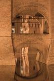 费拉拉(意大利),中世纪城堡 免版税图库摄影