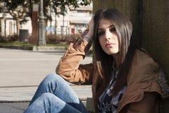 拉提纳女孩 免版税库存照片
