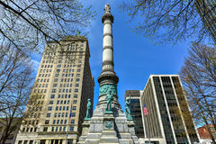 拉斐特广场-水牛城,纽约 免版税库存图片