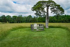 拉斐特驯服坟墓-阿波马托克斯县,弗吉尼亚,美国 免版税库存照片
