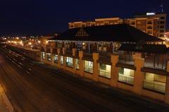拉斐特驻地的夜视图 库存照片