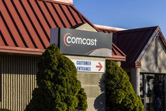 拉斐特-大约2016年12月:康卡斯特服务中心 康卡斯特是一家多民族大众传播媒体公司VIII 免版税库存照片