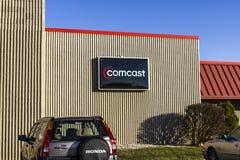 拉斐特-大约2016年12月:康卡斯特服务中心 康卡斯特是一家多民族大众传播媒体公司x 库存图片