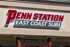 拉斐特-大约2017年4月:Penn驻地快餐潜水艇三明治餐馆 Penn驻地有300个地点在15个状态II 库存图片
