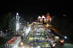 拉斯五颜六色yeatra的mayapur,庆祝 库存照片