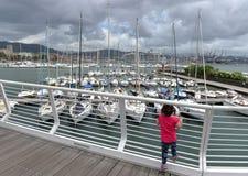 拉斯佩齐亚,意大利- 2016年6月15日:拉斯佩齐亚,意大利港口  免版税库存图片