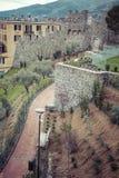 拉斯佩齐亚,意大利- 2016年3月09日:La spezia城市高狭窄的房子  免版税图库摄影