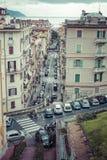 拉斯佩齐亚,意大利- 2016年3月09日:La spezia城市高狭窄的房子  库存照片