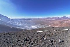 从拉斯卡尔火山山的看法 库存图片