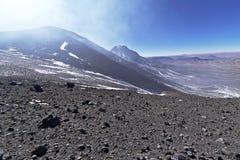 从拉斯卡尔火山山的看法 免版税库存照片