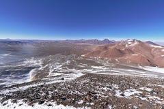 从拉斯卡尔火山山的看法 免版税库存图片
