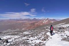 从拉斯卡尔火山山的看法 图库摄影