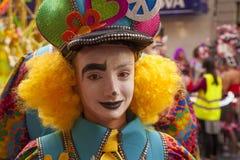 拉斯帕尔马斯主要狂欢节队伍 库存照片