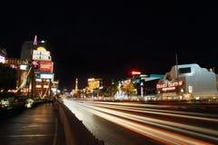 拉斯维加斯主街上在晚上 图库摄影