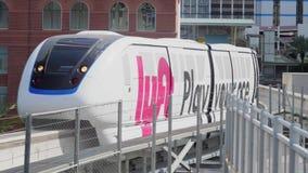 拉斯维加斯单轨铁路车通行证 股票视频