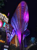 拉斯维加斯夜,纽约公园,旅游胜地,内华达 免版税库存照片