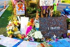 拉斯维加斯射击受害者的纪念消息 库存图片