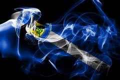 拉斯维加斯市烟旗子,内华达状态, Americ美国  库存例证