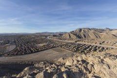 拉斯维加斯沙漠孤立山景城 免版税库存照片
