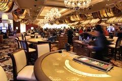 拉斯维加斯赌博娱乐场地板 图库摄影