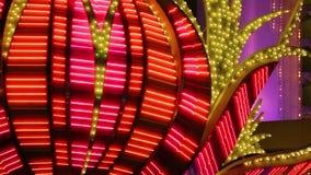 拉斯维加斯赌博娱乐场霓虹闪光灯  股票视频