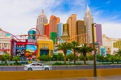 拉斯维加斯,内华达,美国- 2016年5月05日:纽约旅馆赌博娱乐场 库存照片