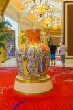 拉斯维加斯,美利坚合众国- 2016年5月06日:在Wynn旅馆和赌博娱乐场的内部 库存图片
