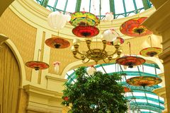拉斯维加斯,美利坚合众国- 2016年5月06日:在Wynn旅馆和赌博娱乐场的内部 免版税库存图片