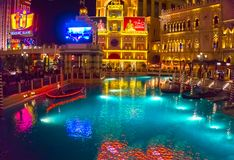 拉斯维加斯,美国- 2016年5月06日:威尼斯式度假旅馆和赌博娱乐场 图库摄影