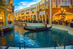 拉斯维加斯,美国- 2016年5月06日:威尼斯式度假旅馆和赌博娱乐场 免版税库存图片