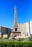 拉斯维加斯, NV - 2017年6月13日:巴黎旅馆和艾菲尔铁塔 库存照片