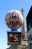 拉斯维加斯-巴黎旅馆和娱乐场 库存照片