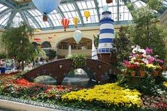拉斯维加斯- 9月05 : 秋季在贝拉焦旅馆Conserva里 免版税库存图片