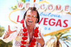 拉斯维加斯Elvis模仿 免版税库存照片