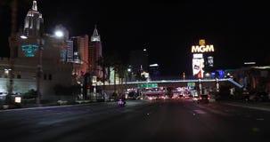 拉斯韦加斯大道夜录影 股票视频