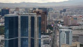 拉斯韦加斯大道看法从统温层的 免版税库存图片