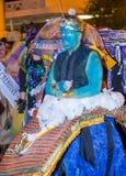 拉斯维加斯万圣夜游行 免版税库存图片