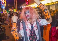 拉斯维加斯万圣夜游行 免版税库存照片