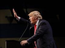 拉斯维加斯内华达, 2015年12月14日:共和党总统候选人唐纳德・川普讲话在活动在Westgate拉斯维加斯 图库摄影