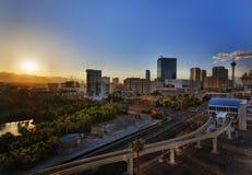 拉斯维加斯单轨铁路车驻地 免版税图库摄影