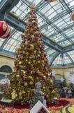 拉斯维加斯圣诞节显示 图库摄影