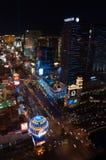 拉斯维加斯在晚上 免版税图库摄影