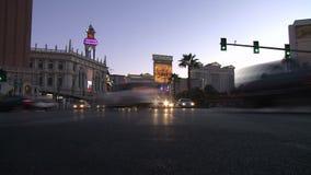 拉斯维加斯夜交通-时间间隔-夹子7 12 股票视频