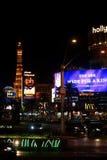 拉斯维加斯大道在晚上 免版税库存图片