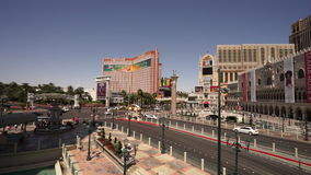 拉斯维加斯大道-市广角射击白天的拉斯维加斯Nevada/USA 影视素材
