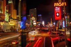 拉斯维加斯大道&米高梅赌博娱乐场 免版税库存照片