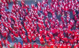 拉斯维加斯巨大圣诞老人奔跑 库存图片