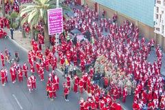 拉斯维加斯巨大圣诞老人奔跑 免版税图库摄影