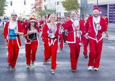 拉斯维加斯巨大圣诞老人奔跑 免版税库存照片