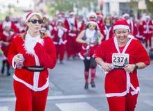 拉斯维加斯巨大圣诞老人奔跑 图库摄影
